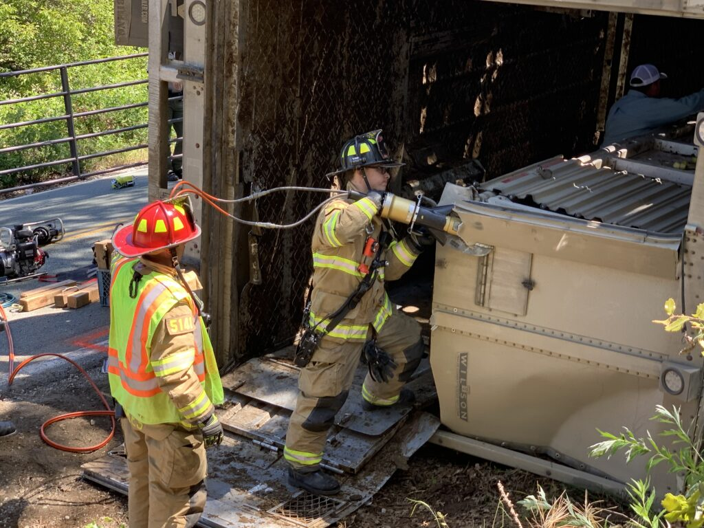 Assisted With An Overturned Cattle Truck On Climax Road E T A Evacuation Teams Of Amador